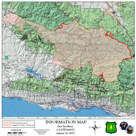 Forestwatch Zaca Fire Update Week Ending August 19